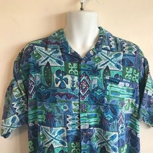 Vintage Local Motion Floral Print Hawaiian Shirt M